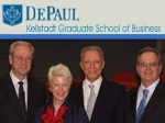 Werner Erhard, Gonneke Spits, Michael Jensen attend DePaul University Business Conference in 2008